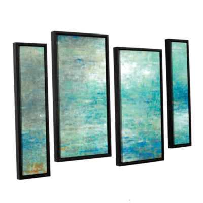 Brushstone Lake Rain 4-pc. Floater Framed Canvas Staggered Set