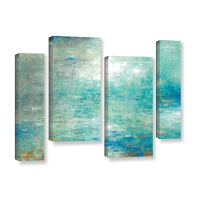 Brushstone Lake Rain 4-pc. Gallery Wrapped Staggered Canvas Wall Art
