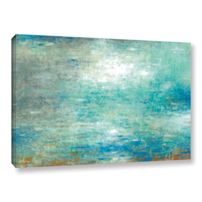 Brushstone Lake Rain Gallery Wrapped Canvas Wall Art