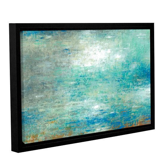 Brushstone Lake Rain Gallery Wrapped Floater Framed Canvas Wall Art