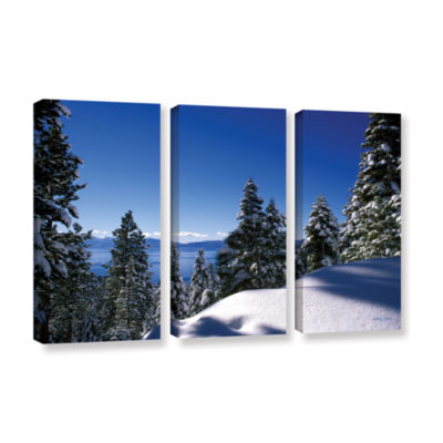 Brushstone Lake Tahoe in Winter 3-pc. Gallery Wrapped Canvas Set