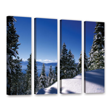 Brushstone Lake Tahoe in Winter 4-pc. Gallery Wrapped Canvas Set