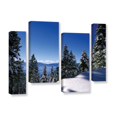 Brushstone Lake Tahoe in Winter 4-pc. Gallery Wrapped Canvas Staggered Set
