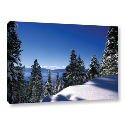 Brushstone Lake Tahoe In Winter Gallery Wrapped Canvas Wall Art