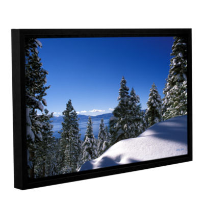 Brushstone Lake Tahoe in Winter Gallery Wrapped Floater-Framed Canvas