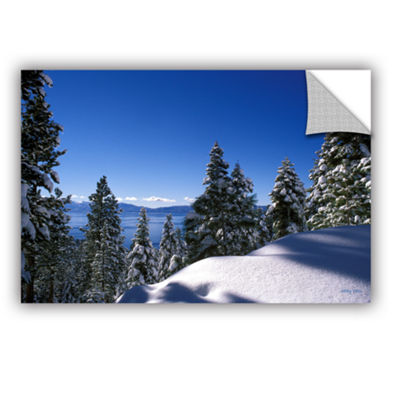 Brushstone Lake Tahoe In Winter Removable Wall Decal