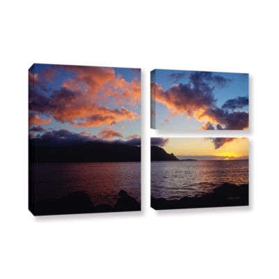 Brushstone Last Light Over Bali Hai 3-pc. GalleryWrapped Canvas Flag Set
