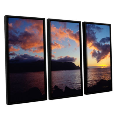 Brushstone Last Light Over Bali Hai 3-pc. FloaterFramed Canvas Set