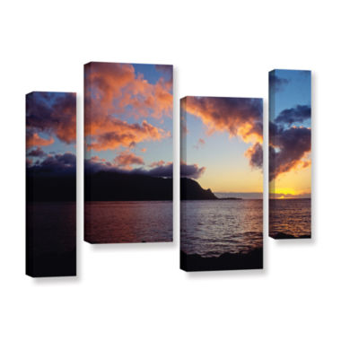 Brushstone Last Light Over Bali Hai 4-pc. GalleryWrapped Canvas Staggered Set