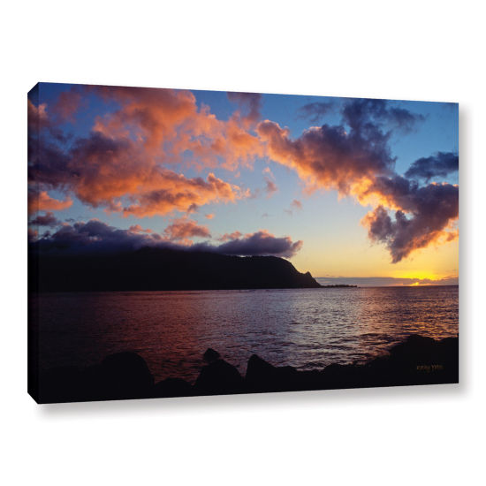 Brushstone Last Light Over Bali Hai Gallery Wrapped Canvas