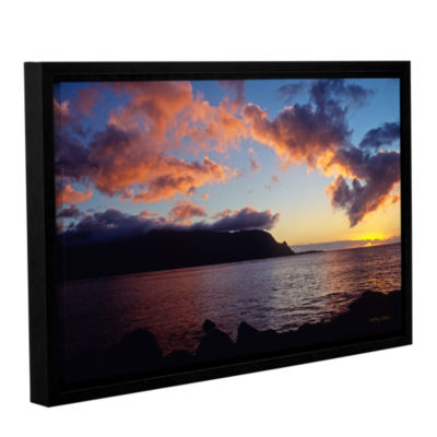 Brushstone Last Light Over Bali Hai Gallery Wrapped Floater-Framed Canvas Wall Art