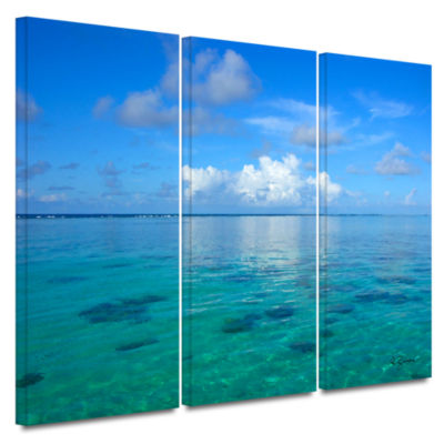 Brushstone Lagoon & Reef 3-pc. Gallery Wrapped Canvas Set