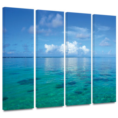 Brushstone Lagoon & Reef 4-pc. Gallery Wrapped Canvas Set