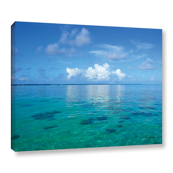 Brushstone Lagoon & Reef Gallery Wrapped Canvas