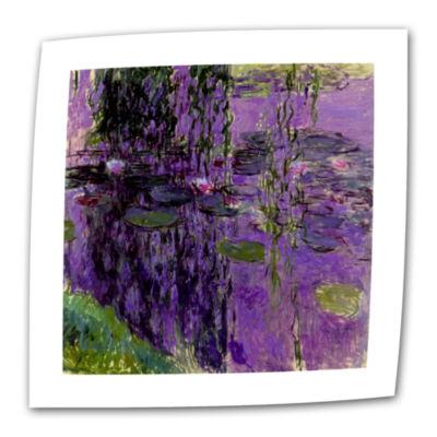Brushstone Lavender Water Lillies Canvas Wall Art