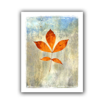 Brushstone Leaf I Canvas Wall Art