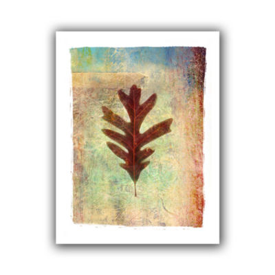 Brushstone Leaf VI Canvas Wall Art