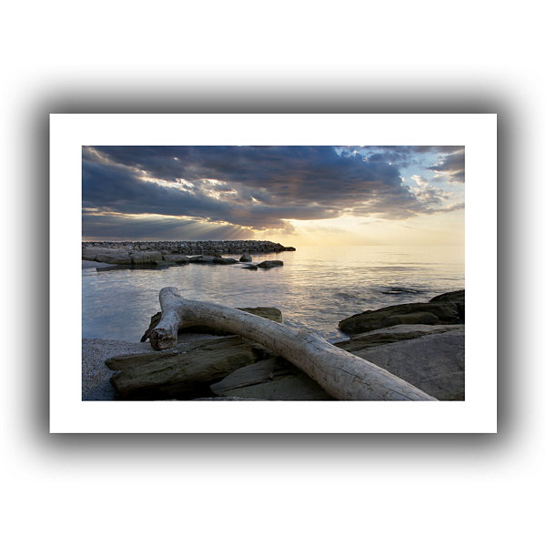 Brushstone Lake Erie Sunset II Canvas Wall Art
