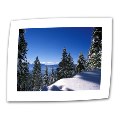 Brushstone Lake Tahoe In Winter Canvas Wall Art