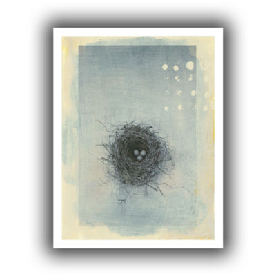 Brushstone Neutral Tone Nest Canvas Wall Art