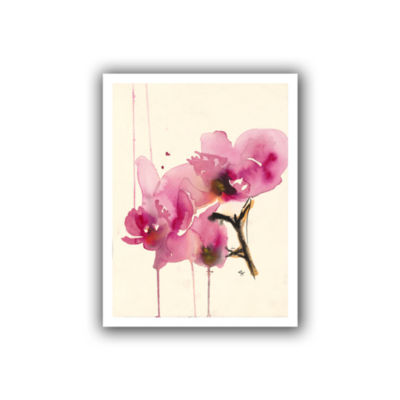 Brushstone Orchids II Canvas Wall Art