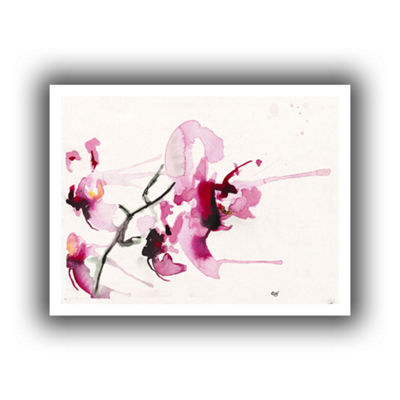 Brushstone Orchids III Canvas Wall Art