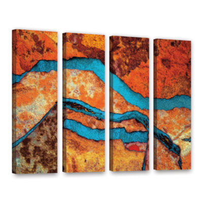 Brushstone Niquesa (165) 4-pc. Gallery Wrapped Canvas Wall Art