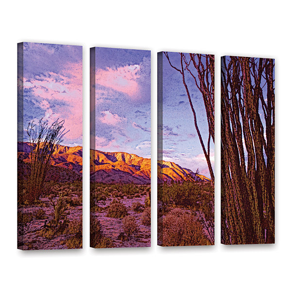 Brushstone Ocotillo Sunset 4-pc. Gallery Wrapped Canvas Wall Art