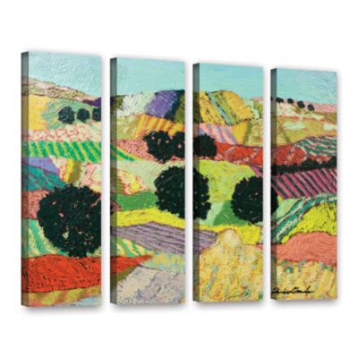 Brushstone Crystal Mountain 4-pc. Gallery Wrapped Canvas Wall Art