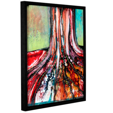 Brushstone Deeply Rooted I Gallery Wrapped Floater-Framed Canvas Wall Art