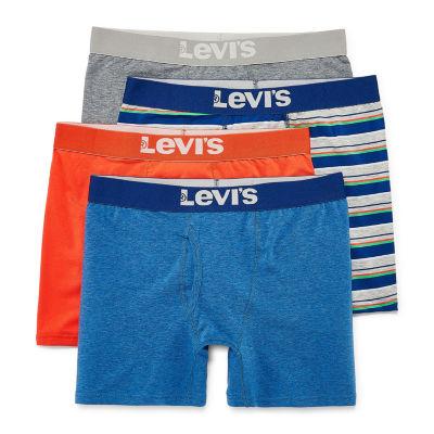 Levi's Cotton Stretch 4 Pack Boxer Briefs