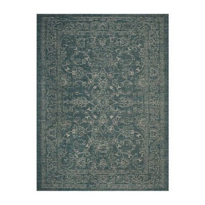 Safavieh Courtyard Collection Clarissa Oriental Indoor/Outdoor Square Area Rug