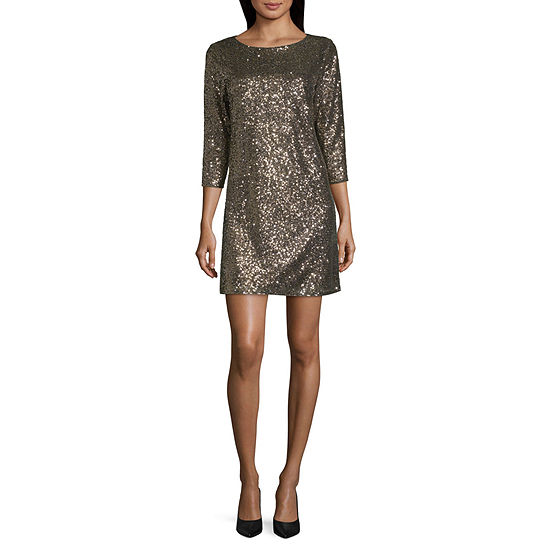 Worthington 3/4 Sleeve Midi Party Dress