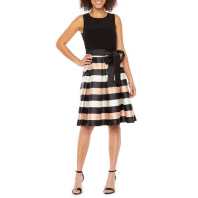 R & K Originals Sleeveless Striped Party Dress