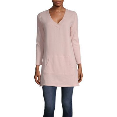 Liz Claiborne Weekend Kanga Pocket Tunic - Tall