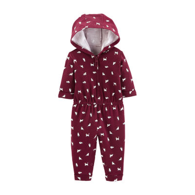 Carter's Cat Hooded French Terry Jumpsuit - Baby Girl