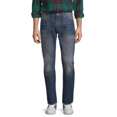 Peyton & Parker Mens Mid Rise Slim Fit Jean