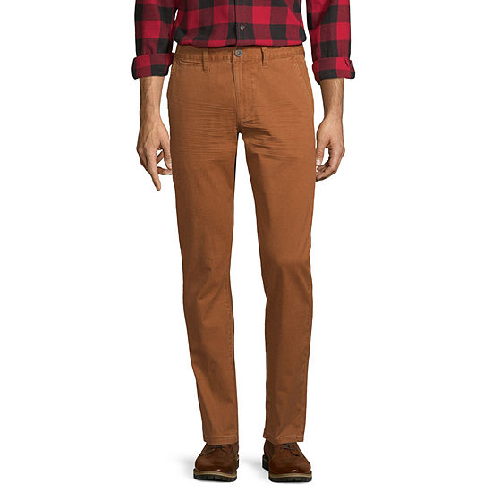 Peyton & Parker Mens Slim Fit Flat Front Pant