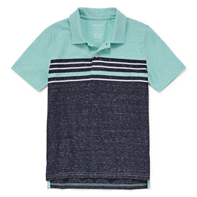 Arizona Short Sleeve Textired Polo Shirt Boys 4-20