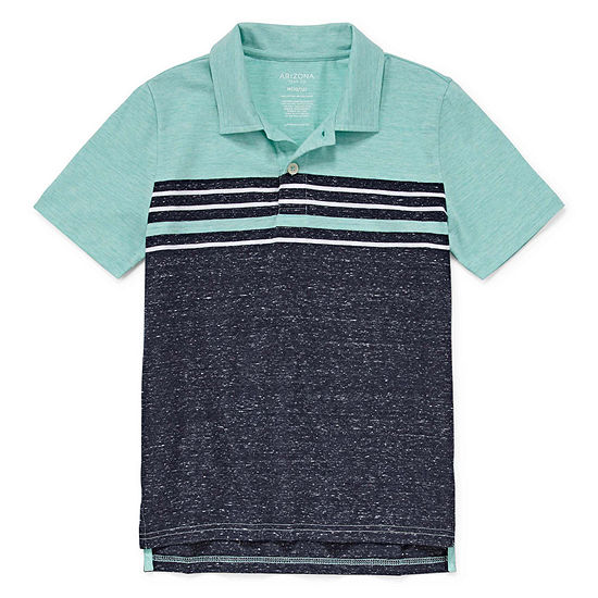 Arizona Boys Point Collar Short Sleeve Polo Shirt Preschool / Big Kid