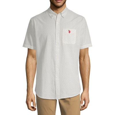 U.S. Polo Assn. Mens Short Sleeve Button-Front Shirt