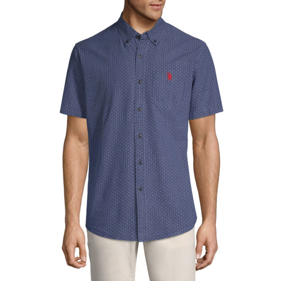 U.S. Polo Assn. Short Sleeve Pattern Button-Front Shirt