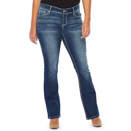 a.n.a Heavy Embr Flap Bootcut Modern Fit Bootcut Jeans