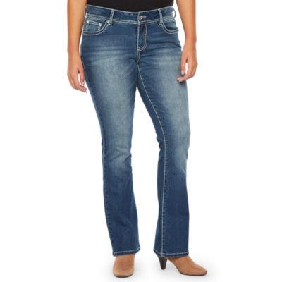 a.n.a Ana Flower Pocket Bootcut Modern Fit Bootcut Jeans