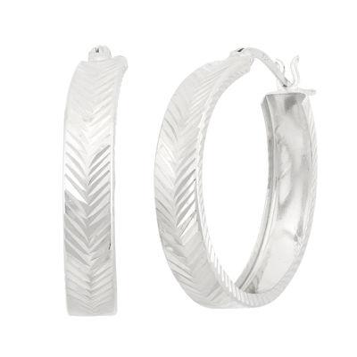 Sterling Silver 33mm Hoop Earrings