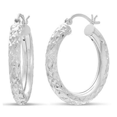 Sterling Silver 28mm Hoop Earrings