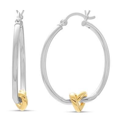 18K Gold Over Silver Sterling Silver 30mm Hoop Earrings