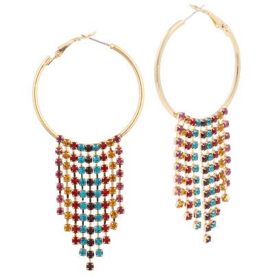 Bijoux Bar 3 1/2 Inch Hoop Earrings
