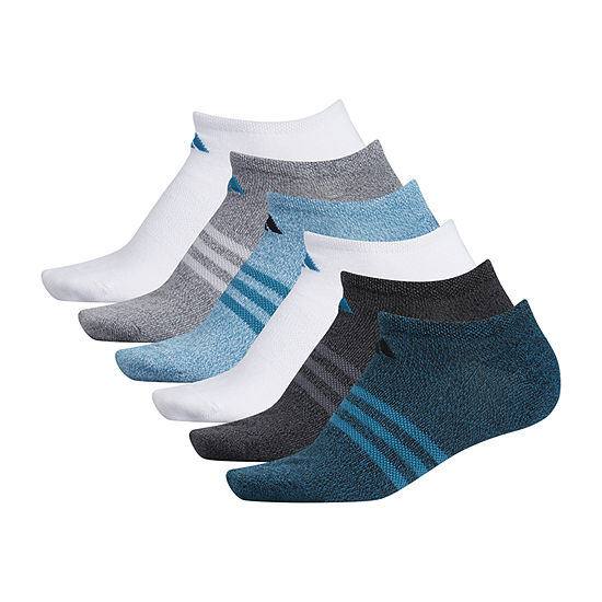 adidas 6 Pair No Show Socks Womens
