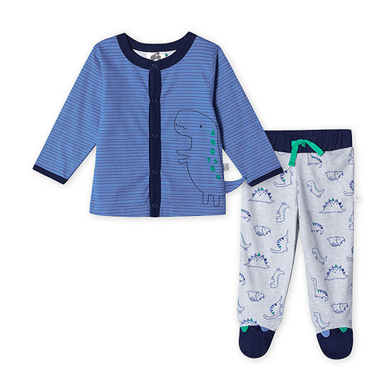 Just Born Boys 2-pc. Animal Pant Set Baby